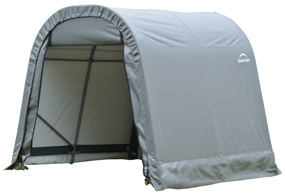 Round Style Shelter, 8'x12'x8', Grey Cover
