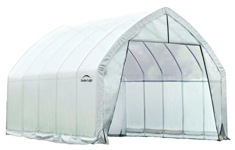 13x20x12ft/ 4x6,1x3,7m Heavy Duty Greenhouse (6) Rib High Arch Style All Steel Frame; (1) Translucent PE Cover; (2) Double Zippe