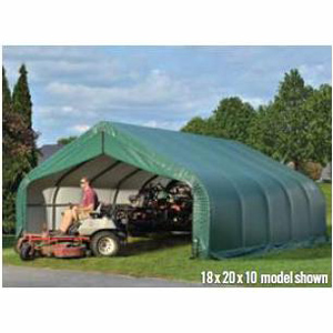 Peak Style Shelter, 18'x28'x12', Grey Cover