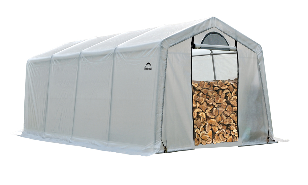 10 x 20 x 8 Seasoning Shed; 5.5oz Clear PE Cover