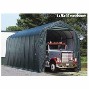 Peak Style Shelter, 15'x20'x12', Grey Cover