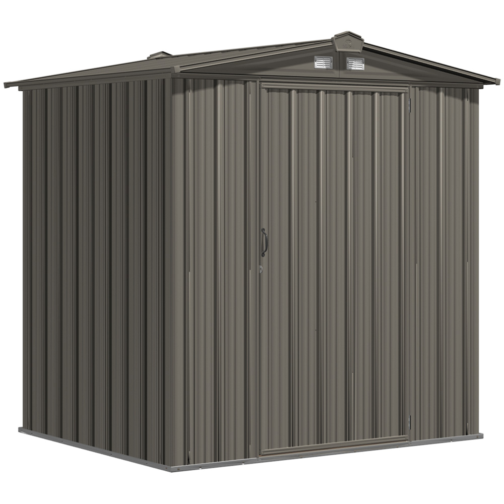 EZEE Shed Steel Storage 6 x 5 ft. Galvanized Low Gable Charcoal