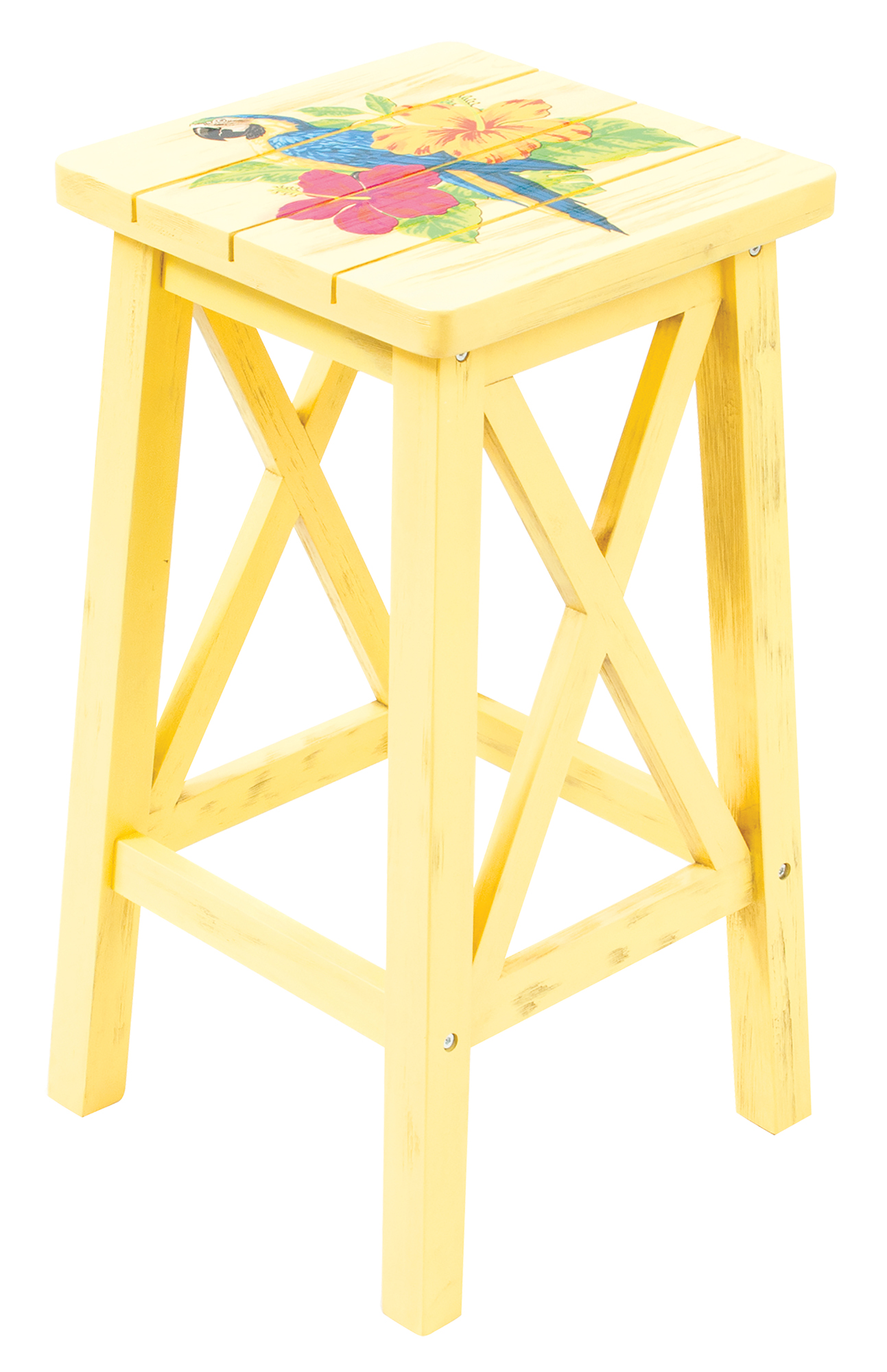 Parrot Outdoor Wood Patio Bar Stool Chair