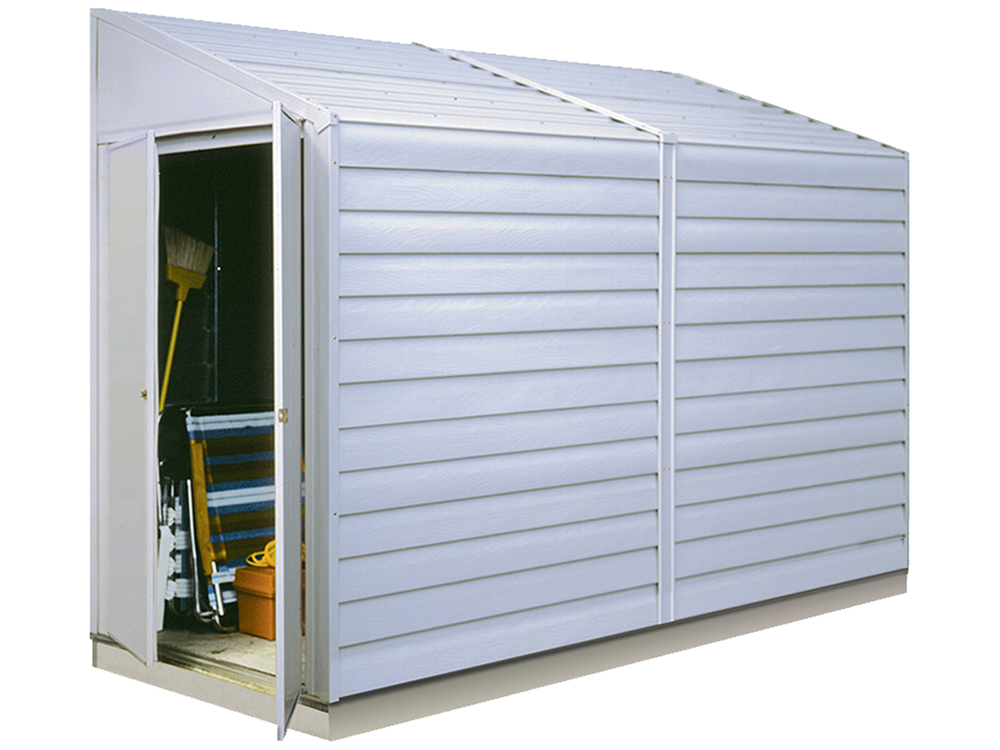 "Yardsaver®, 4x10, Electro Galvanized Steel, Eggshell, Pent Gable, 62.5"" Wall Height, Swing Doors"