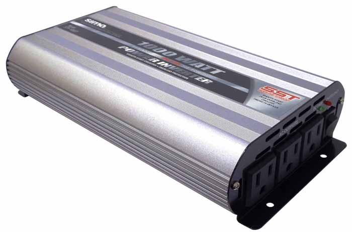 1000W/2000W POWER INVERTER TITANIUM W/3 AC OUTLETS