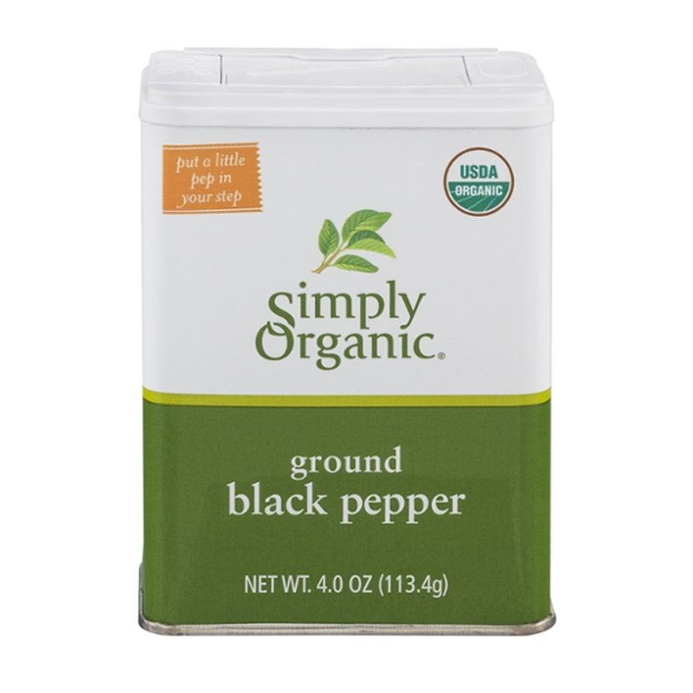 Simply Organic - Ground Black Pepper Tin ( 6 - 4.0 OZ)