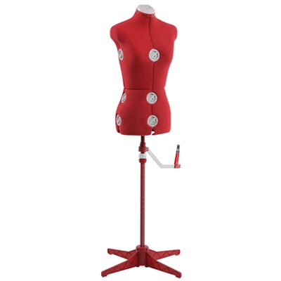 Adjust Sm Med Dress Form Red