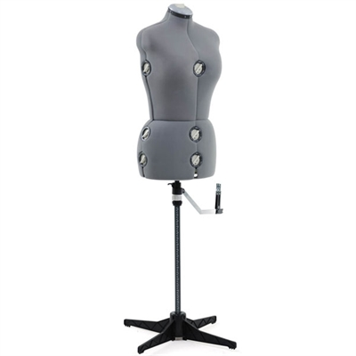 Adjustab Med Lg Dress Form Gry