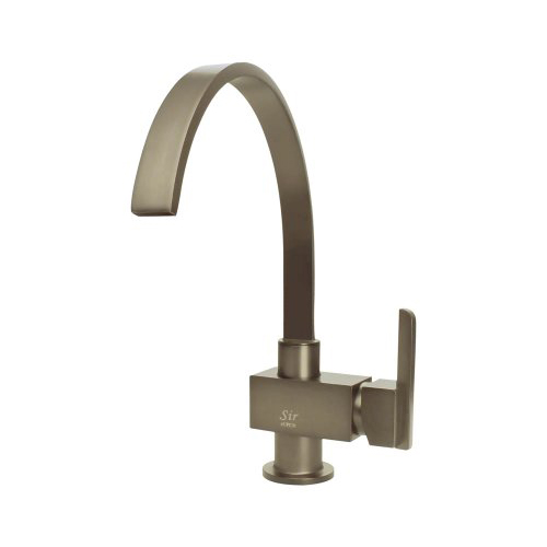 Sir Faucet 712 Brushed-Nickel Single Handle Kitchen Faucet