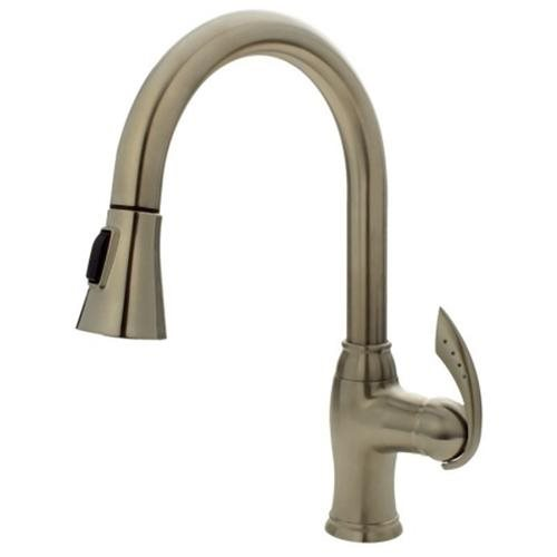 Sir Faucet 772 Brushed-Nickel Pull Down Kitchen Faucet