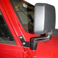 JP-1018: Mirror Relocation Bracket, W/O Knobs, Right:1987-1995 YJ Wrangler