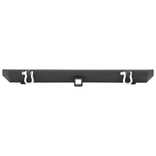 SRC Classic Rock Crawler Front Bumper with D-ring Mounts in Matte Black powder Coat