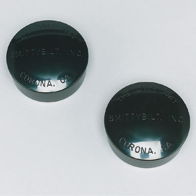 3 Inch Tube Bumper End Caps, Black