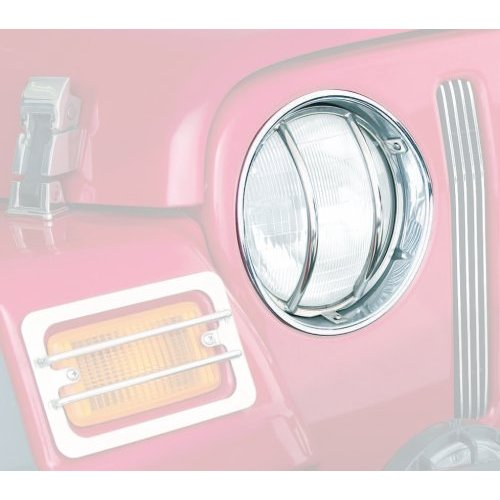 Euro Headlight Covers, Stainless