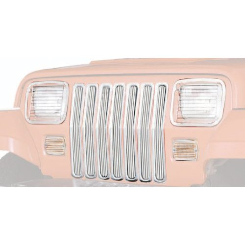 Chrome Grille Inserts for Jeep YJ Wrangler
