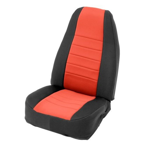 Red on Black Custom Fit Neoprene Front Seat Covers