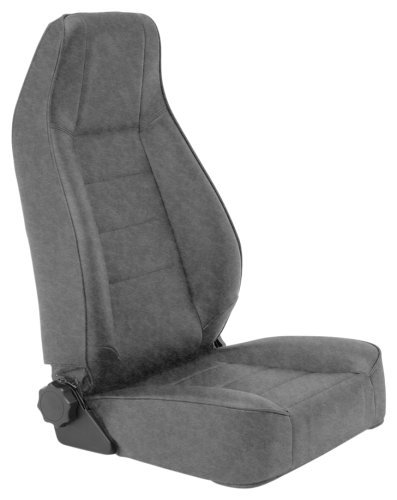 Factory-Style Recliner in Charcoal Light Gray Denim