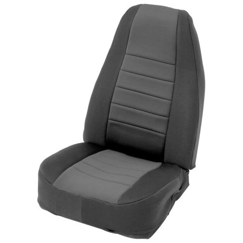 Black on Black Custom Fit Neoprene Rear Seat Cover