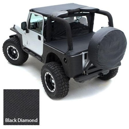 36-37 inch Spare Tire Cover, Black Diamond
