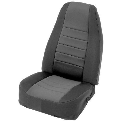 Black on Black Custom Fit Neoprene Front Seat Covers
