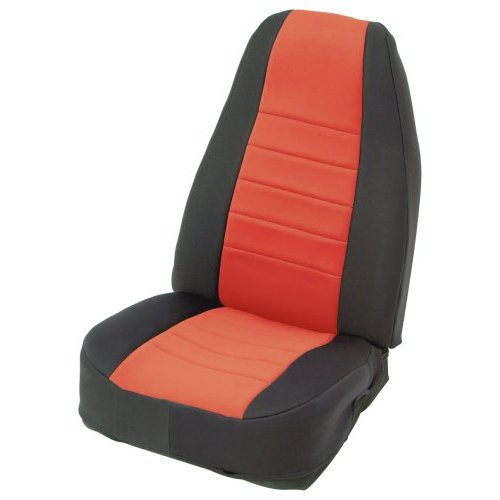 Seat Covers - Rear - Neoprene - Black Sides/ Red Center
