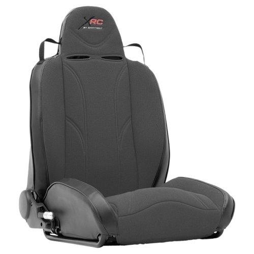 XRC Racing Style Recliner Seat - Black on Black