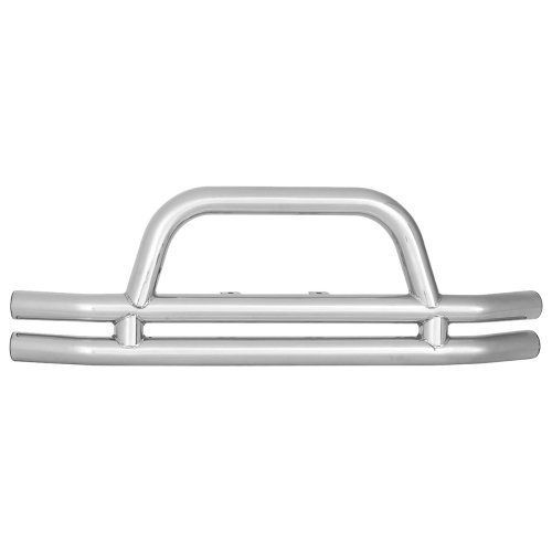 3 Inch Rear Double Tube Bumper without Hitch in Stainless Steel