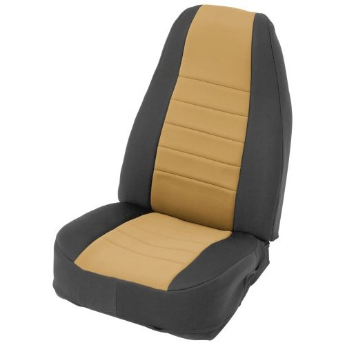 Tan on Black Custom Fit Neoprene Front Seat Covers