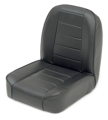 Low-Back Bucket Seat in Black Vinyl