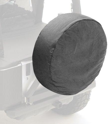 33-35 inch Spare Tire Cover, Black Denim