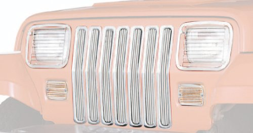 Chrome Grille Inserts for Jeep TJ & LJ Wrangler