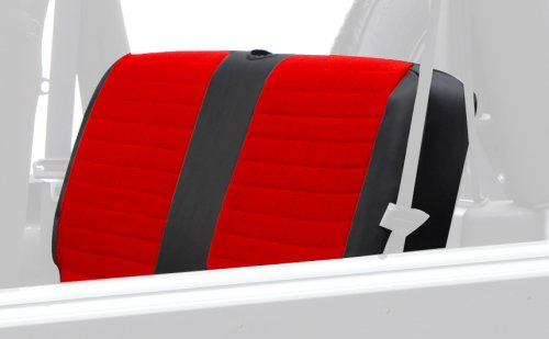 XRC Rear Seat Cover in Red on Black