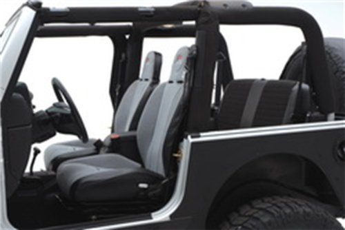 XRC Rear Seat Cover in Gray on Black