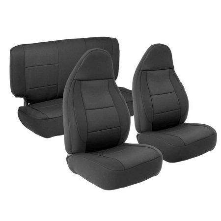 Smittybilt NEOPRENE SEAT COVER SET FRONT/REAR - BLACK 97-02 TJ 471201