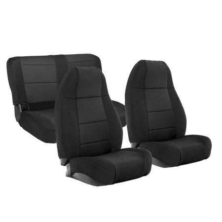 Smittybilt NEOPRENE SEAT COVER SET FRONT/REAR - BLACK 91-95 YJ 471101