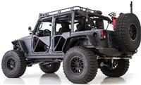 Smittybilt XRC FLAT ARMOR SKINS FRONT - BLACK TEXTURED 76980