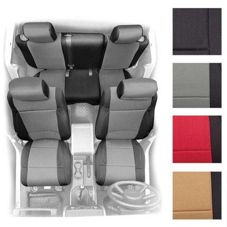 07-12 JK - 2 DOOR NEOPRENE SEAT COVER SET FRONT/REAR - BLACK