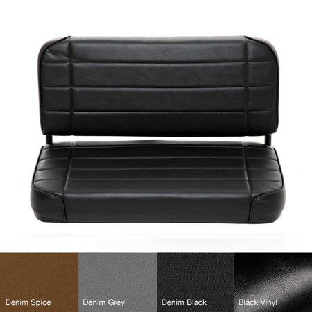 55-95 CJ & WRANGLER (YJ) SEAT - REAR - STANDARD - VINYL BLACK