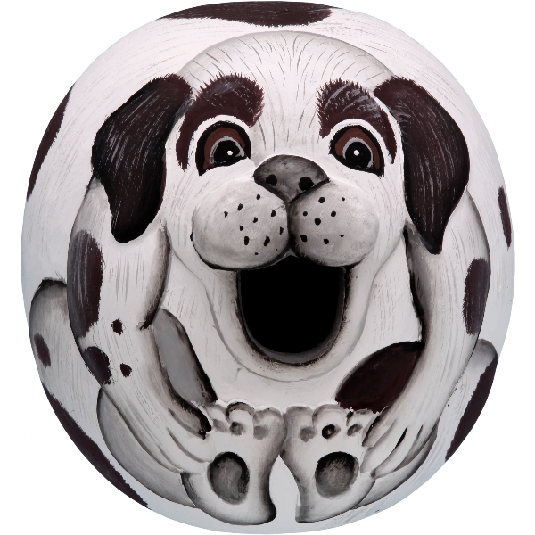 Brown and White Mutt Gord-O Birdhouse
