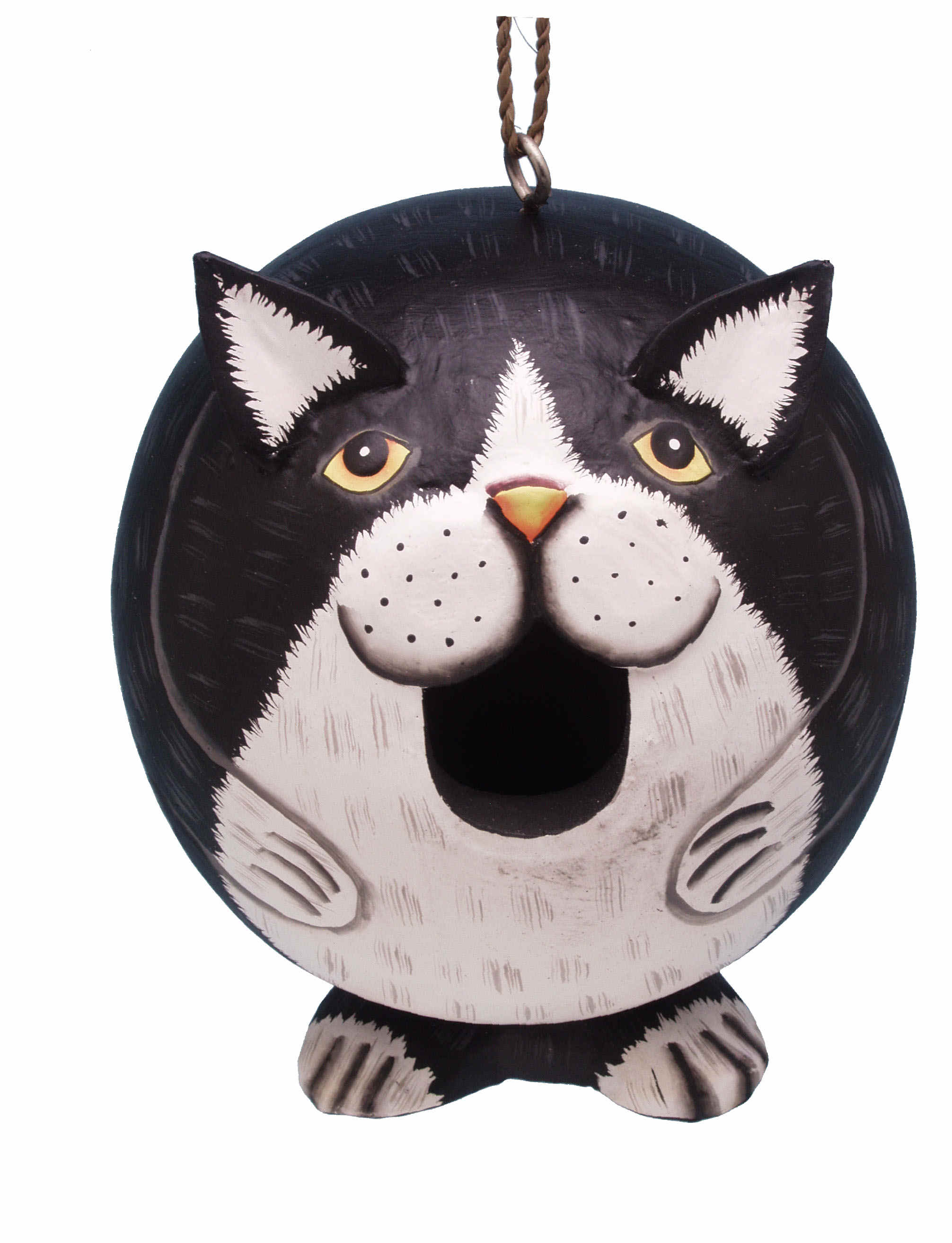 Black and White Cat Gord-O Birdhouse