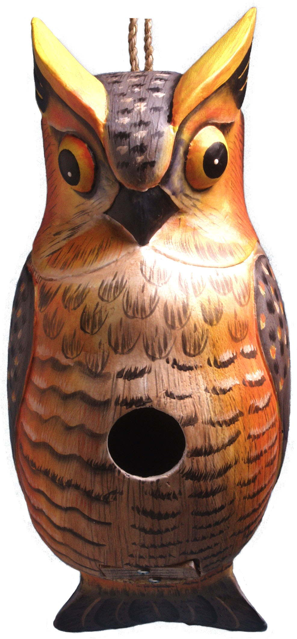 Great Horned Owl Birdhouse