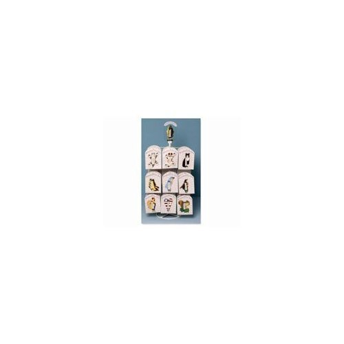 Tabletop Display for Small Window Thermometers or Single Wallhooks (holds 18 styles)