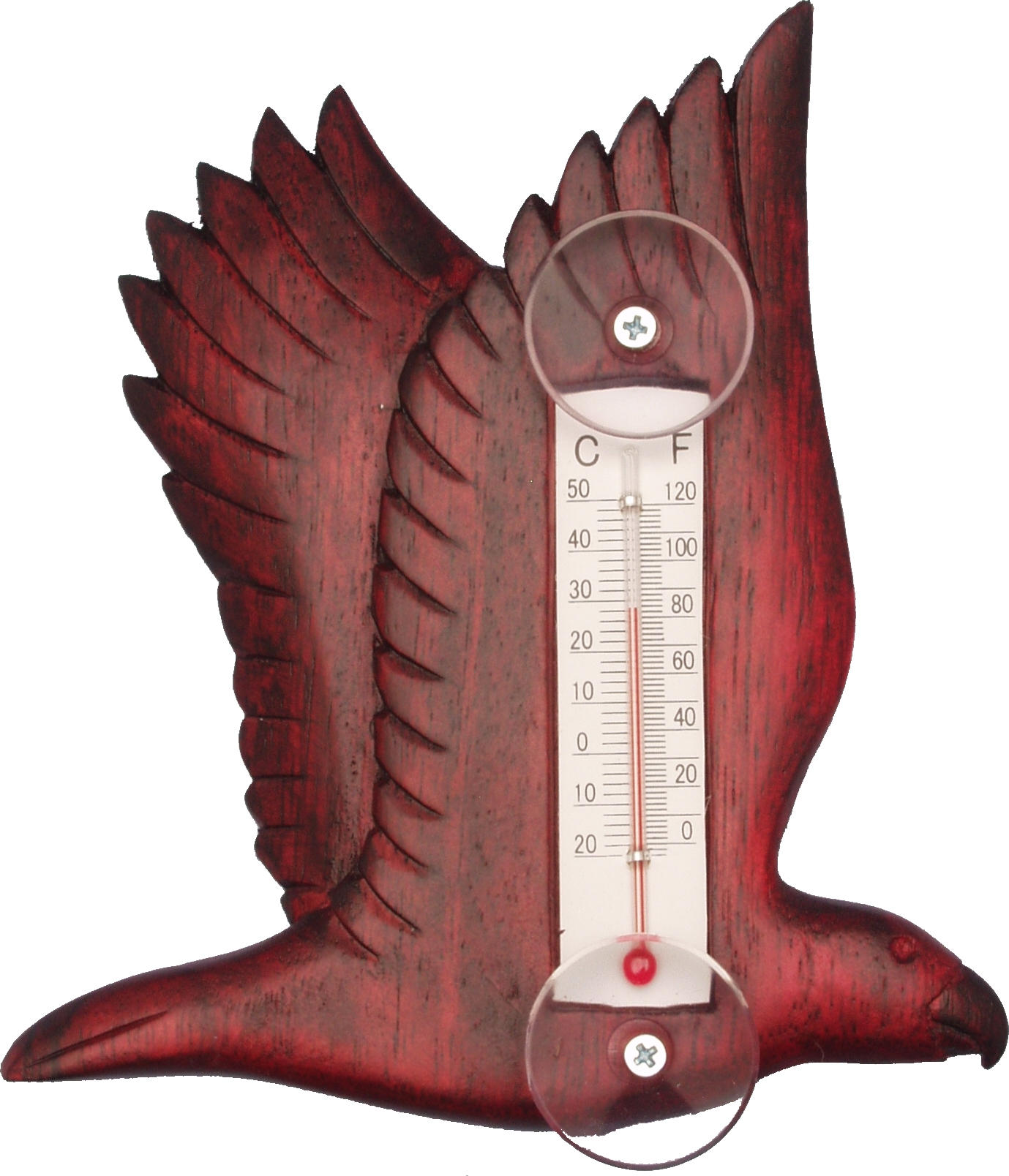 Flying Stained Eagle Small Window Thermometer