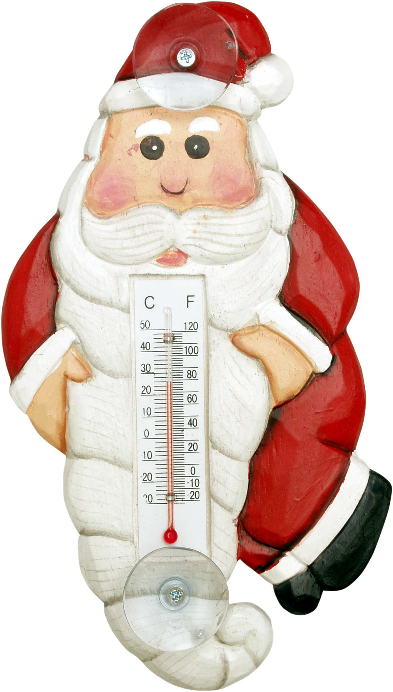 Holiday Santa Body Small Window Thermometer