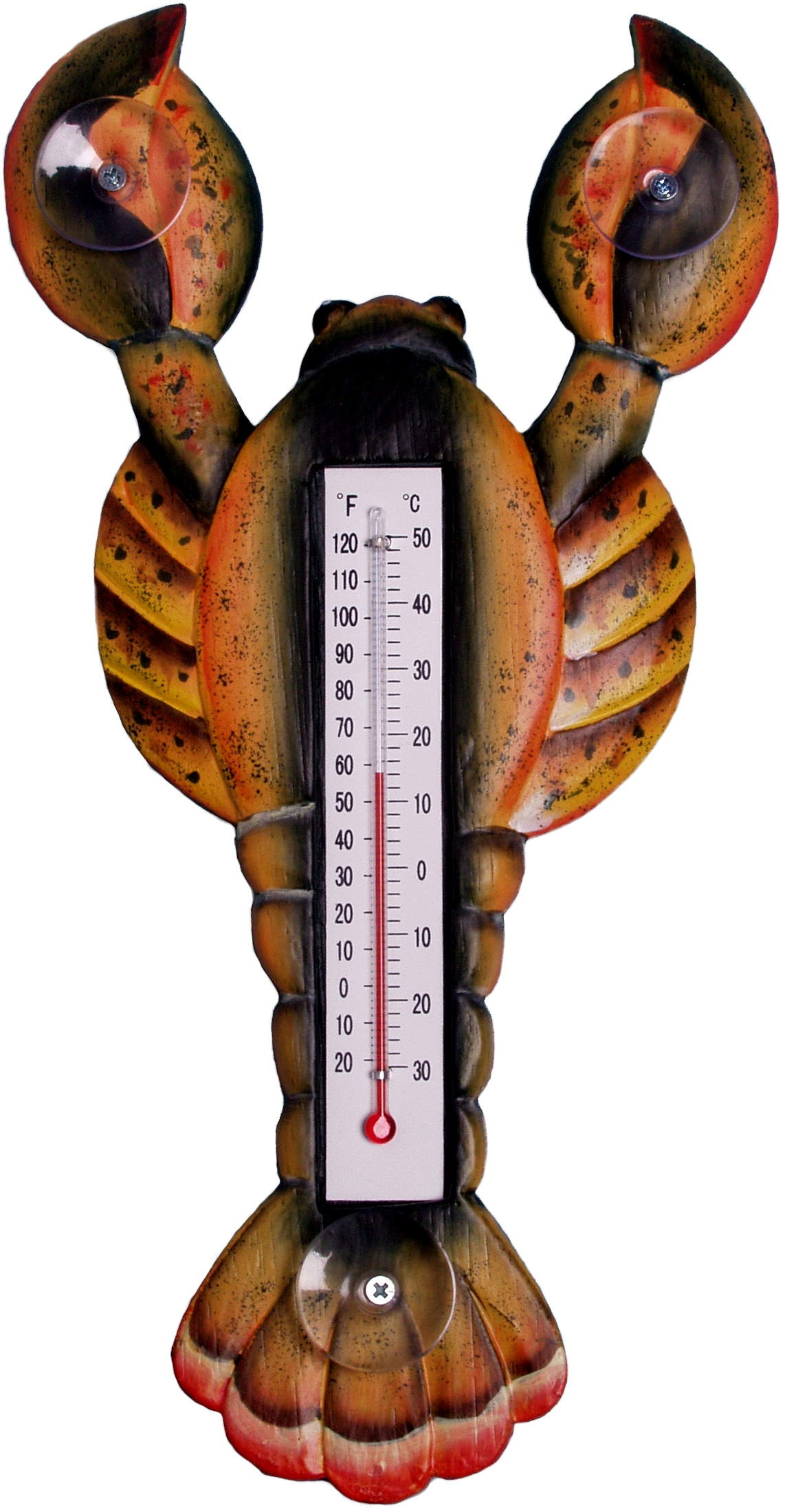 Brown LOBSTER Small Window Thermometer