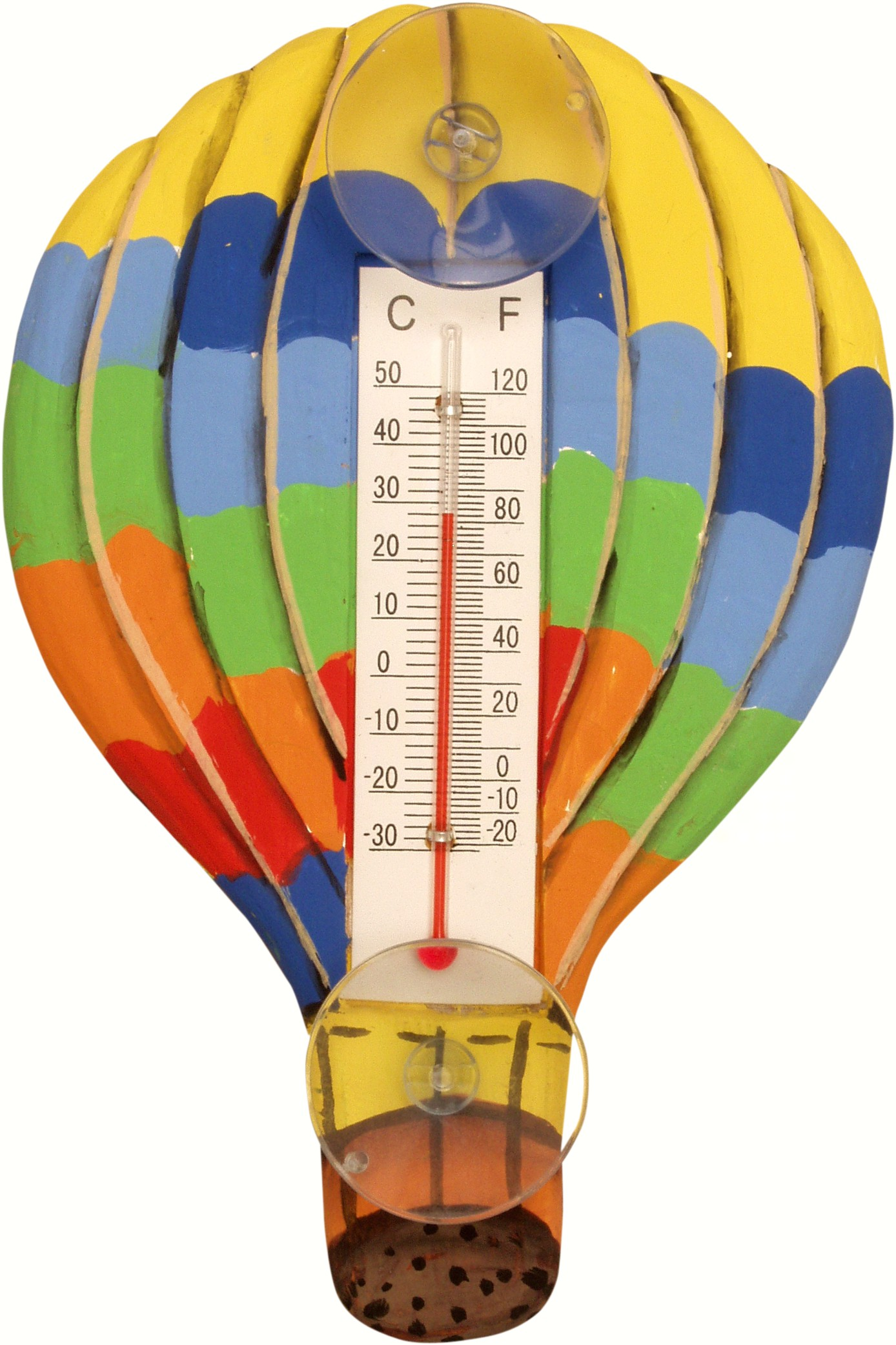 Hot Air Balloon with Horizontal Stripes Small Window Thermometer