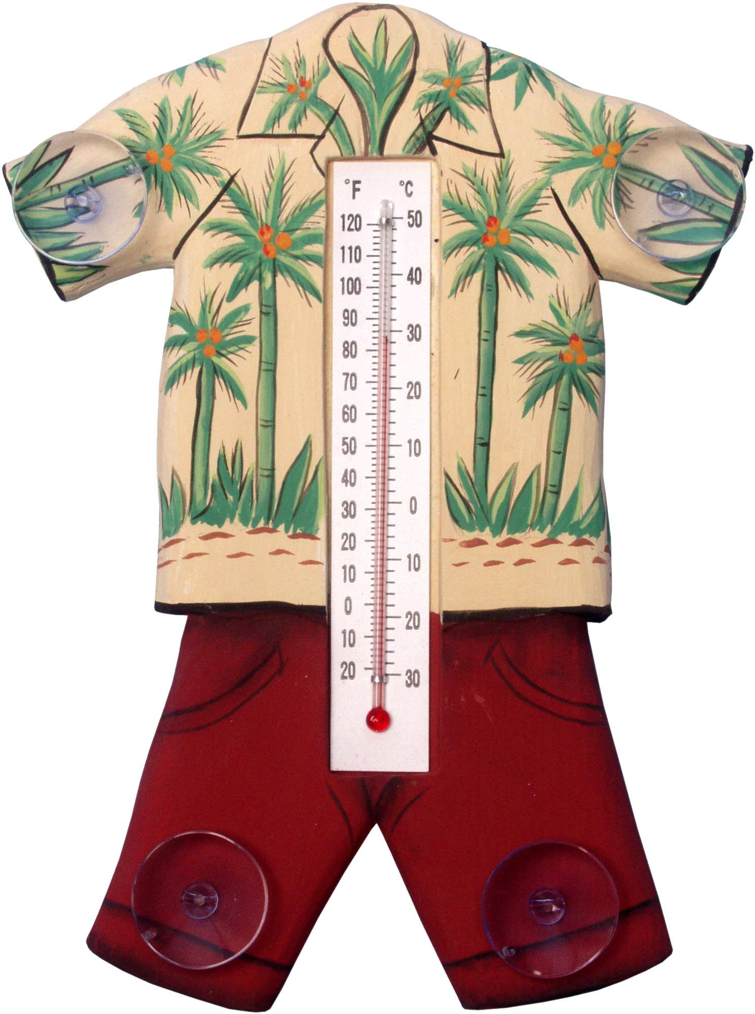 Hawaiin Shirt Small Window Thermometer