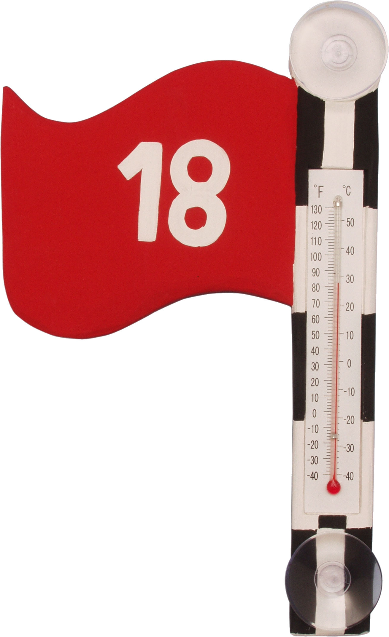 Golf Flag Small Window Thermometer