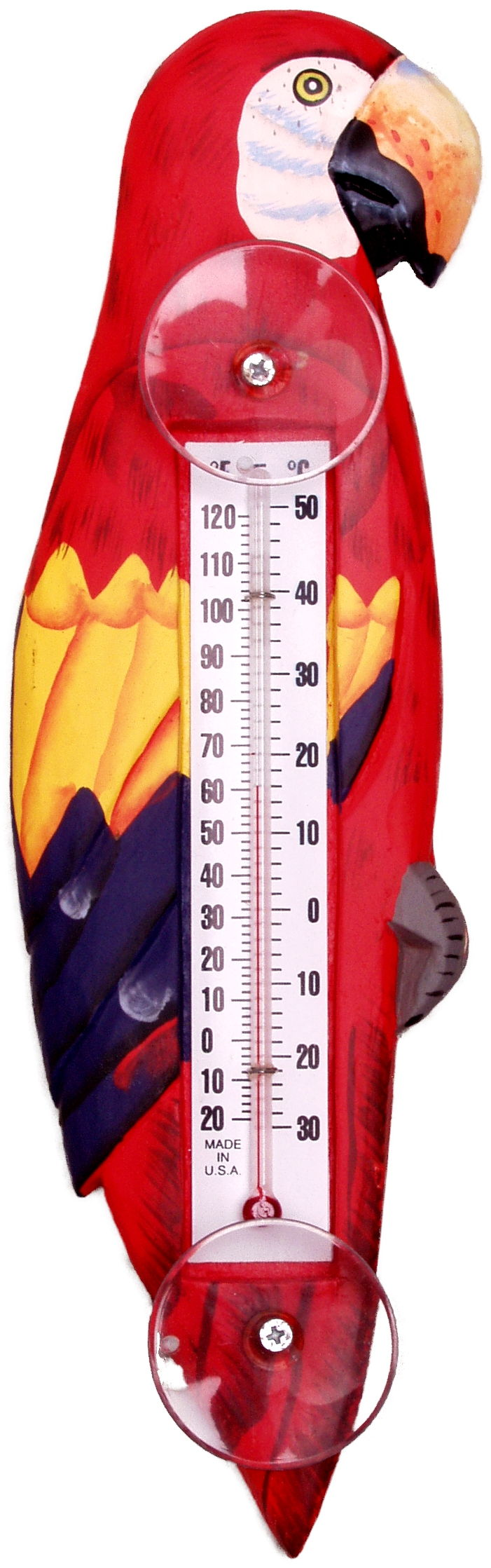 Red Parrot Large Window Thermometer