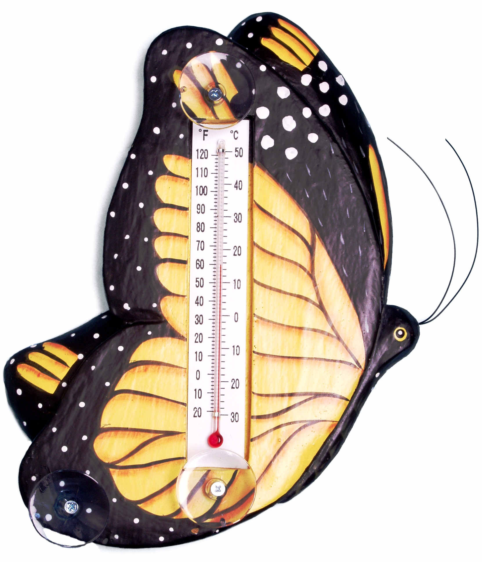 Monarch Butterfly Large Window Thermometer